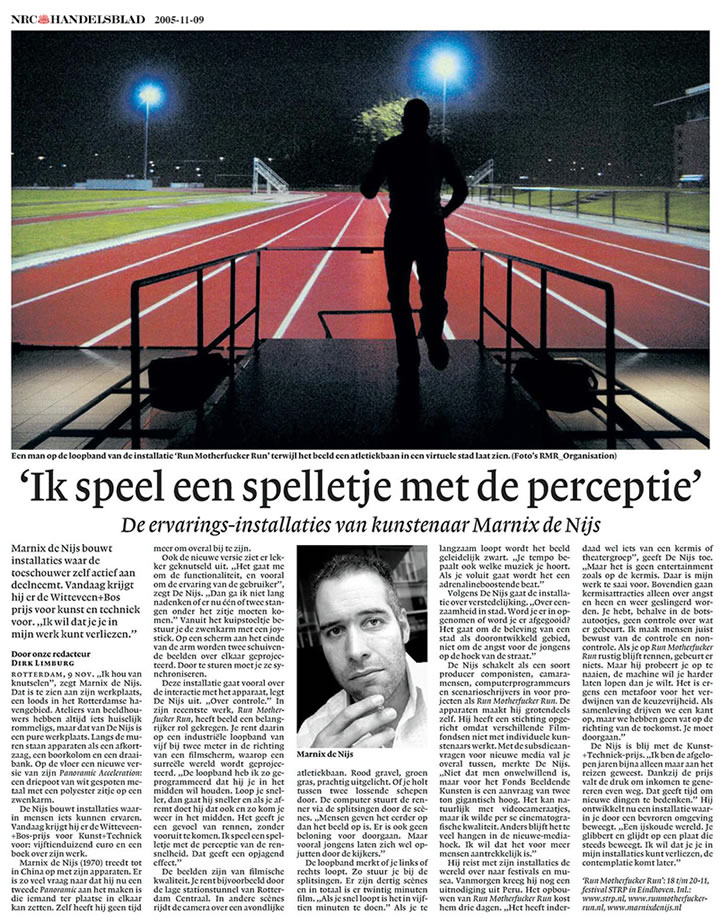 NRC Handelsblad interview
